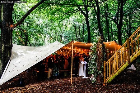 Ceremony under cover & Gallery - Woodland Weddings